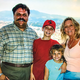 Augie's family; Wife Patti, son Alex and daughter Lindsey in Italy, 2006.