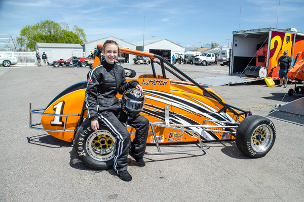Natalie Waters from West Jordan also races in the midget class at Rocky Mountain Raceway. (Creative Resource & Design)