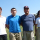 Andy Pan, Jesse Montoya, Coach Wes Lambson and Shumin Boa (L-R) are busy this fall with cross country for Mount Vernon Academy, the school's first team to operate out of the private school's new campus. (Carl Fauver)
