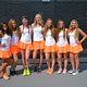 These seniors are playing their final season as members of the MHS girls tennis team. (Andrea Perschon)