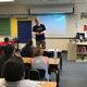 Volunteers from the Deseret Management Corporation stopped by classrooms to speak with students at Lincoln Elementary as part of United Way of Utah's 25th annual Day of Caring. (Courtesy Adam Dahlberg)