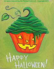 Medium cupcake halloween