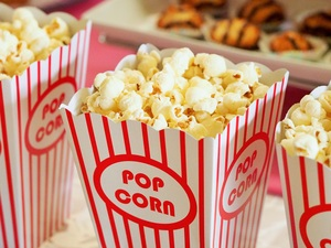 Medium popcorn movie party entertainment
