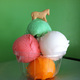 Pinnochios handcrafted ice cream with their signature topping.