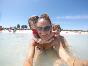 Take the kids to play in the beautiful clear and calm water on Sanibel Photo by Mandy Carter