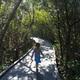 Kara walking the trail at the J.N. Ding Darling Wildlife Refuge.