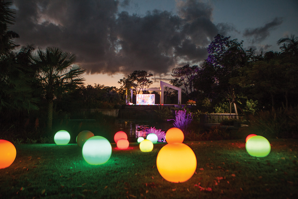 Night Lights illuminate Naples Botanical Garden. Photo courtesy of Naples Botanical Garden.