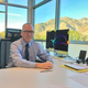 Butler Elementary Principal Jeff Nalwalker and his view of the mountains. (Joshua Wood/City Journals)