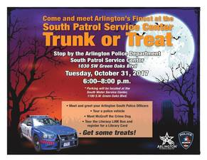 South Patrol Service Center Trunk or Treat Event - start Oct 31 2017 0600PM