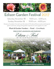 Edison Fall Garden Festival - start Nov 18 2017 0900AM