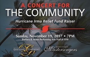 Concert for the Community Hurricane Irma Relief Fundraiser - start Nov 19 2017 0700PM