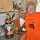 Taylorsville Senior Center ceramics patron June Pons shows off some of her handicrafts. (Carl Fauver)