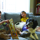 Wyatt Herschell and Sammy Cooper two of CCNs Canine Kids spend time reading to Penny Photo courtesy of Cathy Benscoter Penn State Beaver