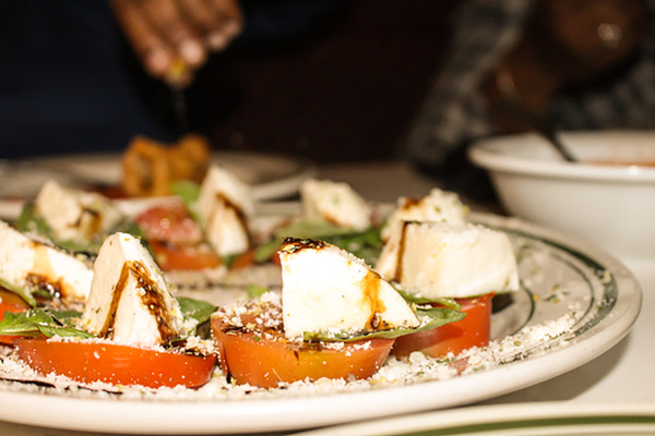 "The ""incredibly fresh"" caprese salad."