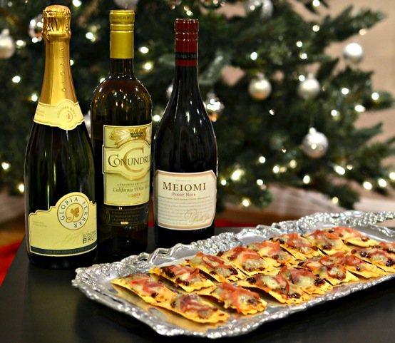 Holiday party wines appetizer 1