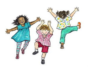 Medium kids dancing clip art1