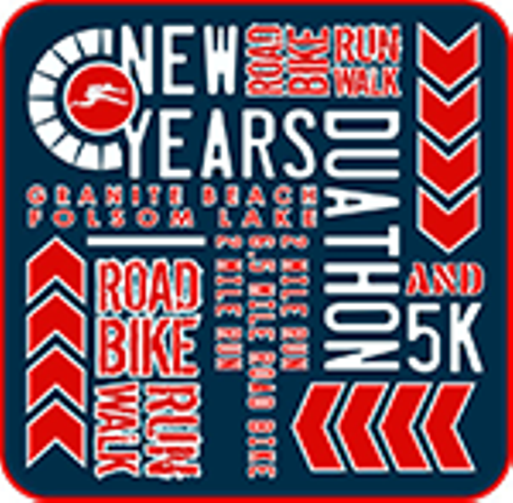 New years duathlon 5k logo
