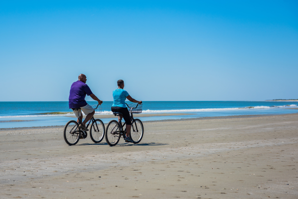 Oceanside cycling is a favorite pastime. Photo courtesy of The King and the Prince Beach Resort.