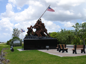 Cape Corals Iwo Jima Monument was moved to the Veterans Memorial Area of the park in 1997 Photo courtesy of Cape Coral Parks  Recreation