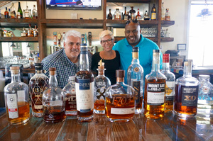 Rum aficionados Tom Bocchino Kim McGonnell and Brian ONeal at Doc Fords Photo by Gina Birch