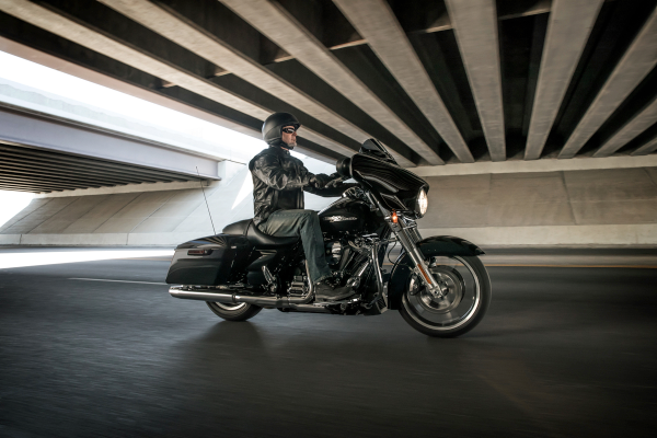 "Reviewers and riders rave about the ""stripped-down, hot rod look"" of the 2018 FLHX Street Glide. Photo courtesy of Harley-Davidson."