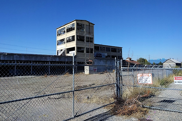The Utah Ore Sampling Company mill area slated for redevelopment. (Photo Murray City)