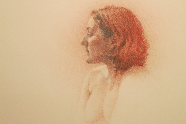 'Red Profile' by Lisa Bartolozzi.