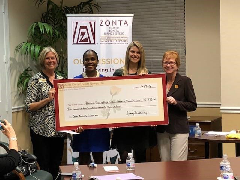 Zonta Club Of Bonita Springs Estero Helps Teens In Recent