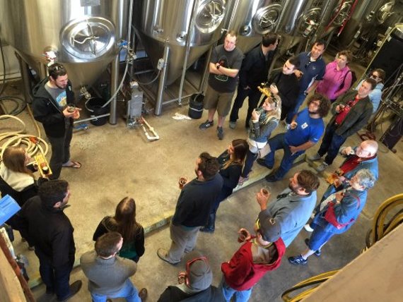 Free brewery tour every