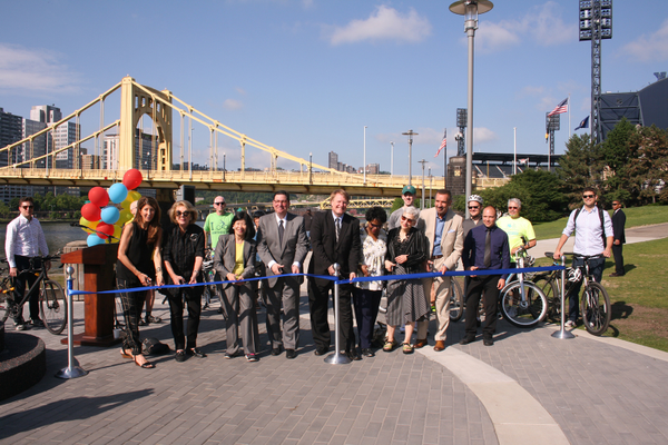 Allegheny Landing restoration ribbon cutting. Photo by Nina Chase