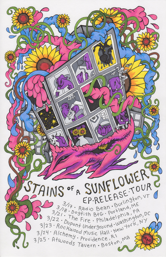 Stains 20of 20a 20sunflower 20ep 20release 20tour 20poster