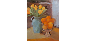 Tulips 20and 20oranges 20oil 20on 20linen 2016x20 20850.