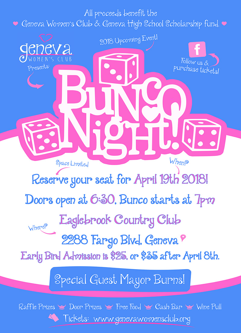 2018 bunco flyer