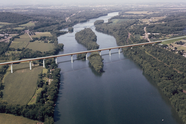 Rendering of proposed CSVT bridge over the West Branch Susquehanna River. Courtesy of PennDot.