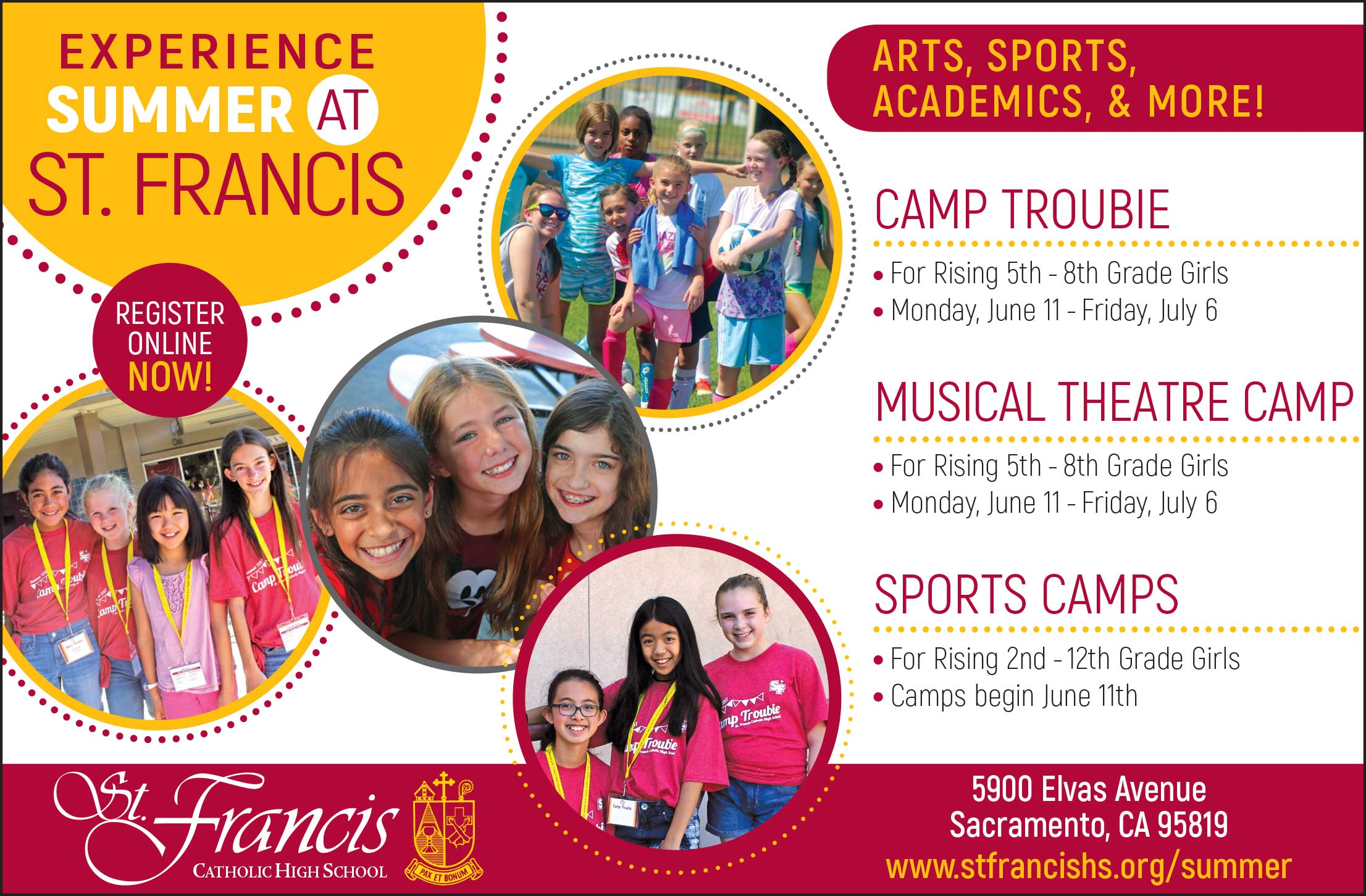 Summer programs 2018 st. Francis catholic high school.