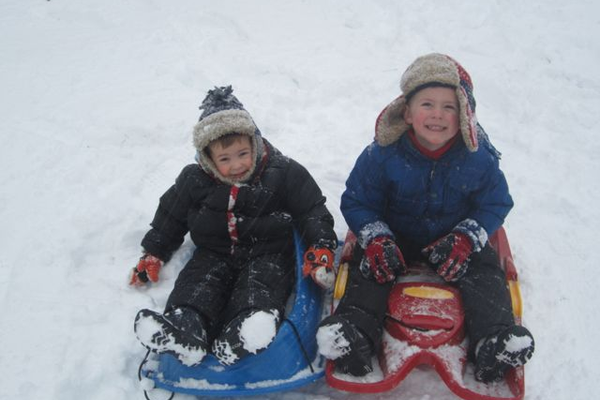 Jacob & Ben Sledding