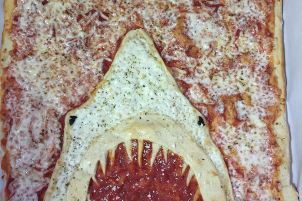 Clossen made this 'Jaws' pizza for a 10-year-old's birthday.
