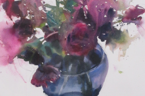 'Lisianthus' by Sarah Yeoman.