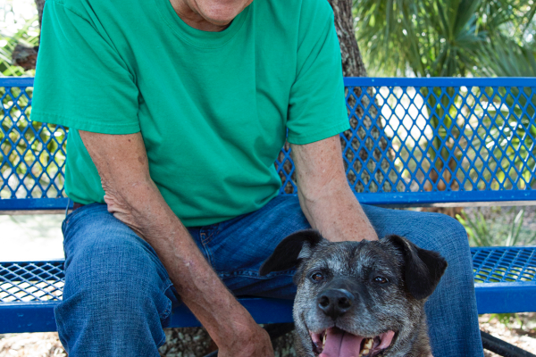 Gulf Coast Humane Society's Senior to Senior Program. Photo by Jolene Wivinus.