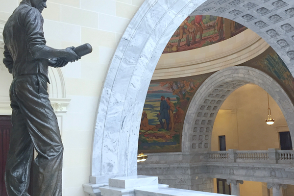 The statue of Philo Farnsworth resides on the top floor of the Utah Capitol. (Julie Slama/City Journals)
