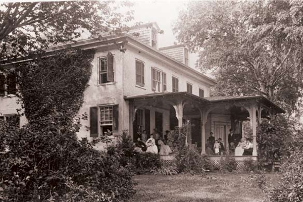 The Stump family, seen here on the porch of the Perry Point mansion on the Fourth of July.