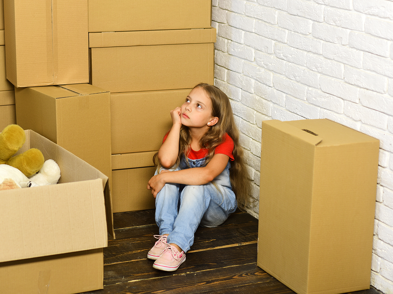 Image result for kid sad about moving