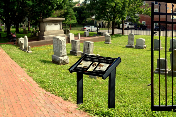 A marker will be placed at the corner of North Mulberry and West Chestnut streets, near Stevens' grave and monument.