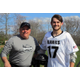 BHS Lacrosse Coach Steve Linehan and player Lyall Chambers