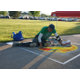 Showing off chalk art skills for the contest. (Keyra Kristoffersen/City Journals)