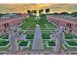 The courtyard at The Ringlings Museum of Art is a work of art itself Photo courtesy of Ringling Museum