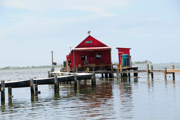 Historic fish house in Pine Island Sound. Photo by Capt. Brian Holaway.
