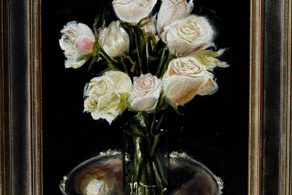White Roses, Silver Plate