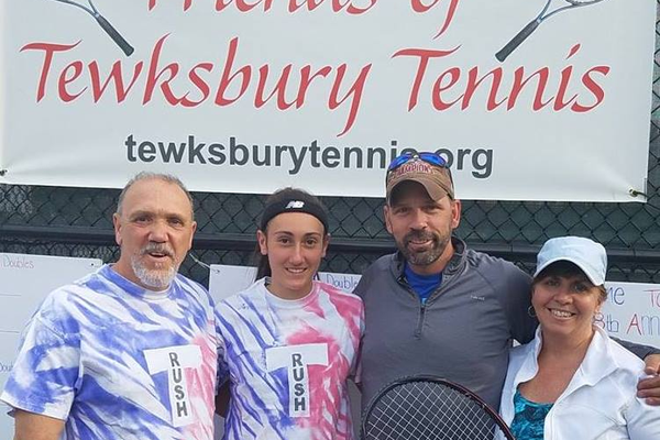 Mixed Doubles Competitors from Tewksbury:  Team Sessa and Team Keene.