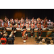 Pipe and Drum band with Chanters (left) and Shrine Band (right) in the background at the annual charitable combined concert